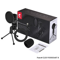 Yanmai SF 777 Desktop USB Microphone Condenser Microphone with Folding Stand Tripod P o p Filter for PC Video Recording
