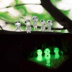 5 sztuk/partia Mononoke Glow in dark Ghibli mini Action Figures Luminous Elf lalki żywica Cartoon figurki zabawki prezenty dla dzieci