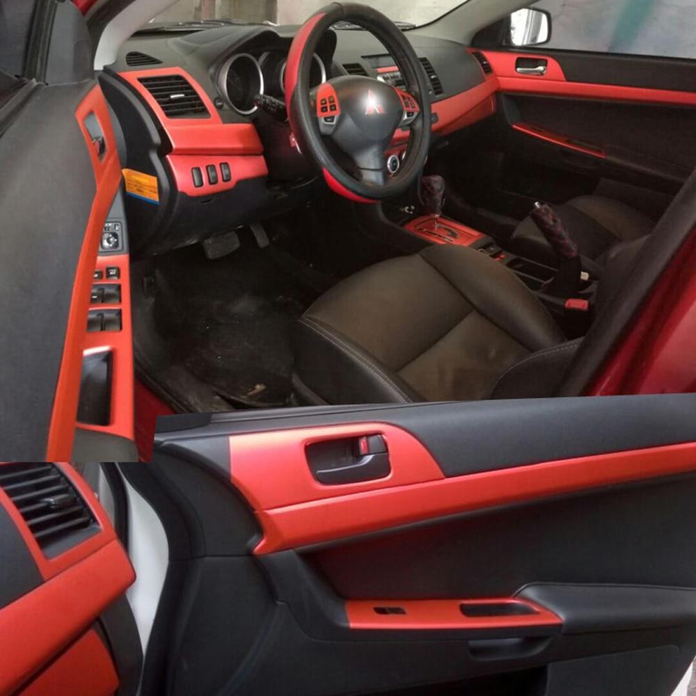 Car-Styling 3D5D Carbon Fiber Car Interior Center Console Color Change Molding Sticker Decals For Mitsubishi Lancer EX 2009-2016