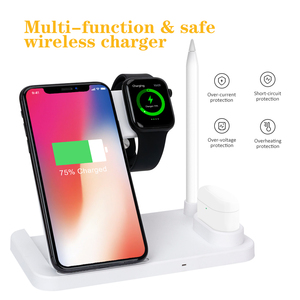 Image 1 - Robotcube 4 in 1 Fast 15W Qi Wireless Charger for phone 11 X XS XR 10W Quick Charge 3.0 Dock Stand For Airpods Watch