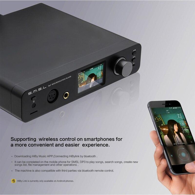 Image 3 - SMSL DP3 Hi Res USB Decoder Amplifier Balanced  Digital ES9018Q2C DAC two way Bluetooth 4.0/WIFI/ DSD LAN Network DAC USB AudioDesktop Digital Music Player   -