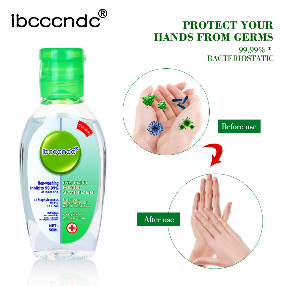 50ml Hand Sanitizer Antibacterial Hand Gel No Clean Waterless Travel Portable Mini Hand Sanitizer Handgel Antibacterial