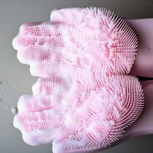 Gloves Kitchen Scrubber Dish Magic Silicone Household for 1pcs