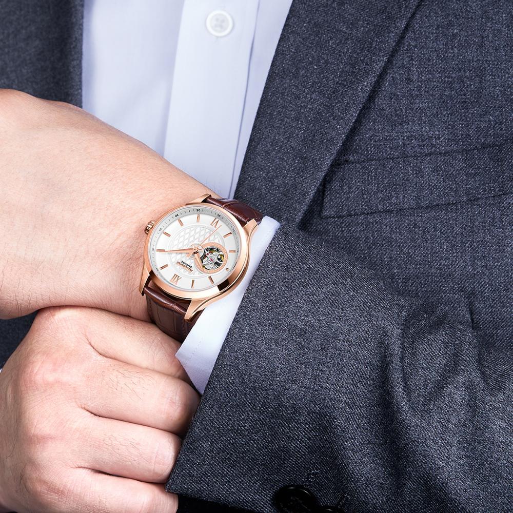 RUIMAS men's watch 2020 new wave mechanical watch hollow male machine ring watch men's machine commandment table genuine