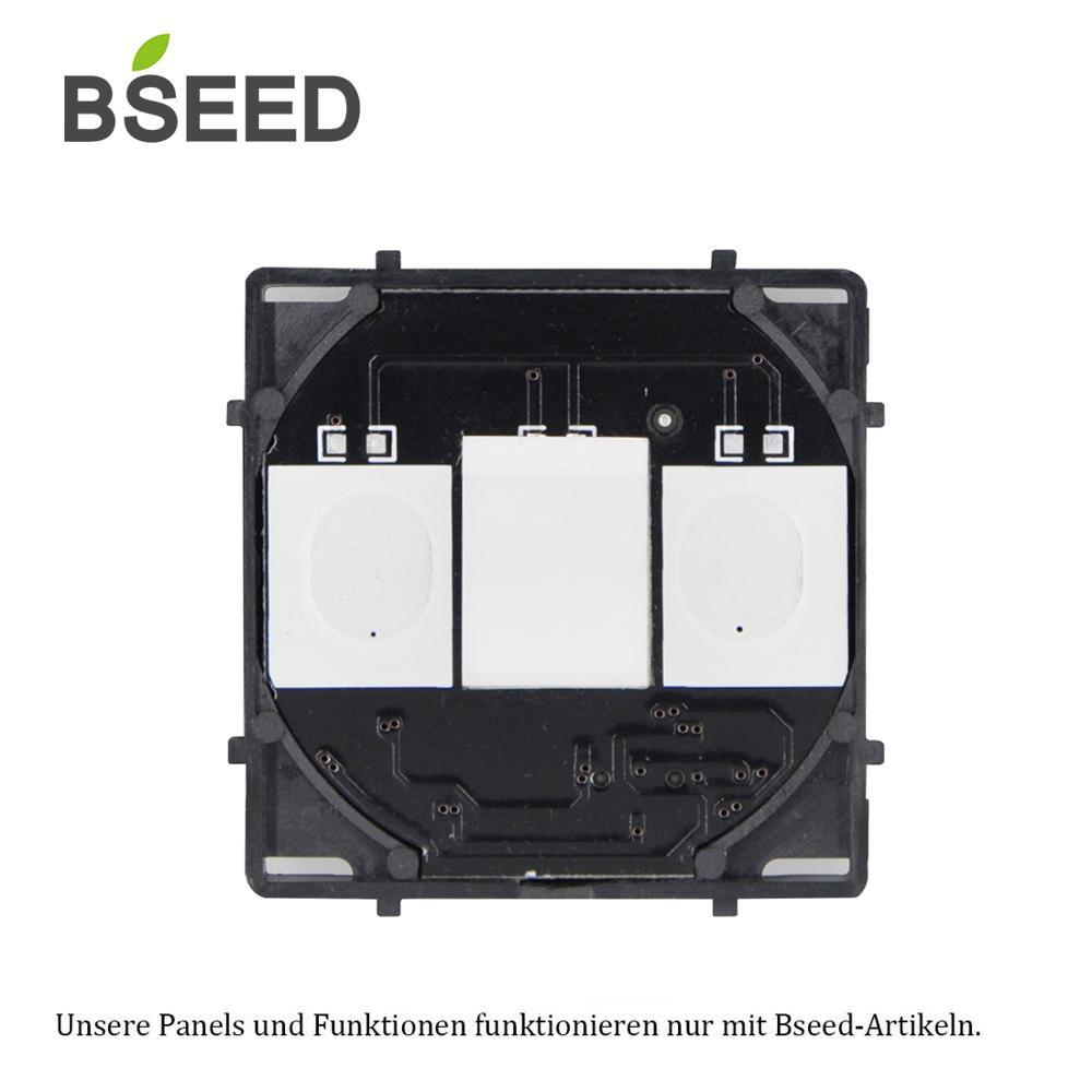 Bseed ue Standard commutateur tactile | Base de commutateurs tactiles, interrupteur de commande AC 110 ~ 240V, 1 Gang 2 Gang 3 gangs sans panneau en verre
