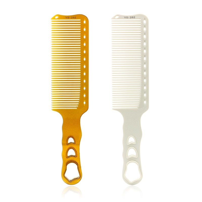 Professional Hairdresser Hair Cutting Comb Anti-static Hairdressing Comb Salon Resin Heat-resistant Flat Top Comb