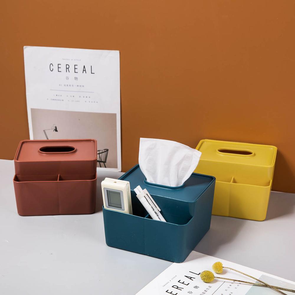 Красочный держатель для салфеток, креативный контейнер для салфеток, настольный канцелярский органайзер, держатель с дистанционным управлением, офисный домашний декор стола|Коробки для салфеток|   | АлиЭкспресс