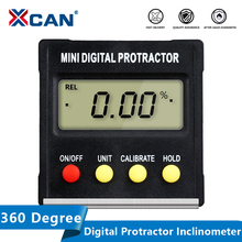XCAN 360 Degree Mini Digital Protractor Inclinometer Electronic Level Box Magnetic Base Measuring Tools