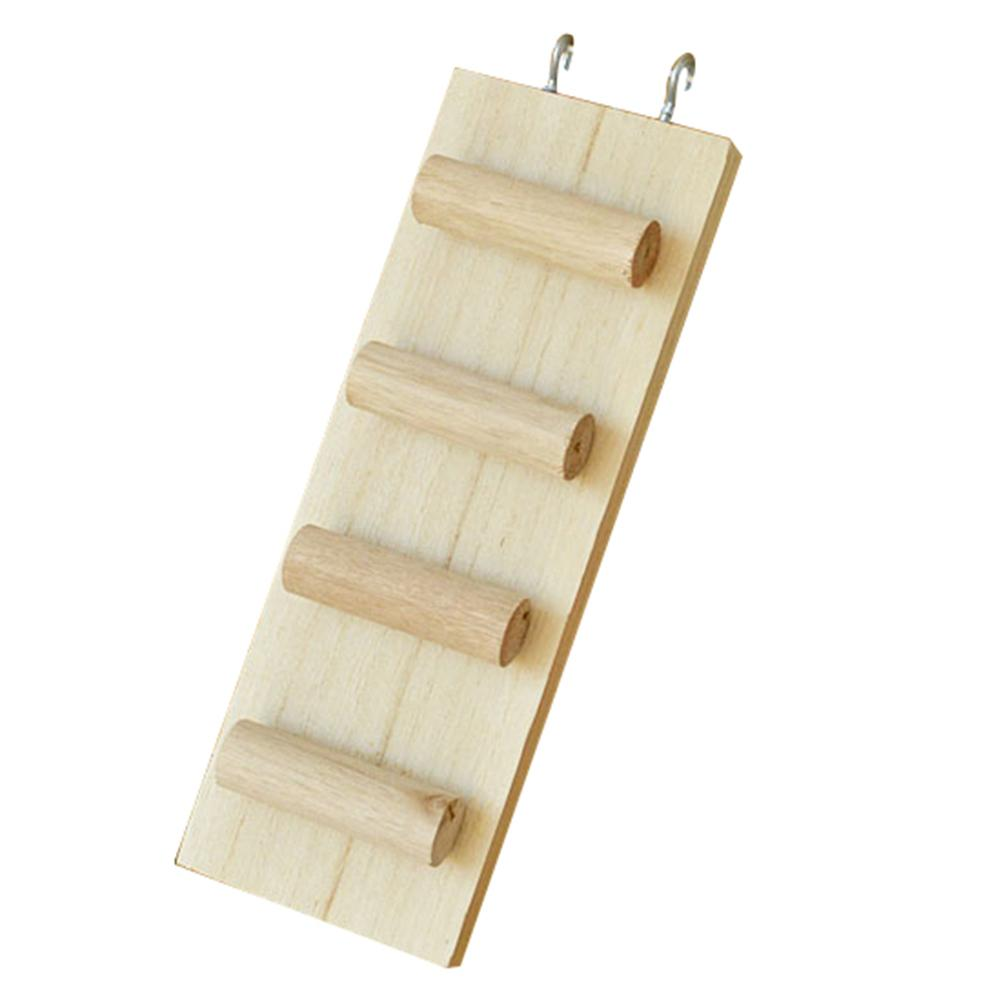 Wooden Climbing Biting Hamster Ladder Stile Stair Toy For Small Mouse Rat Pet