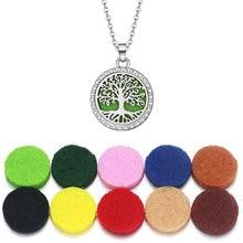 Ожерелье «Древо жизни» для ароматерапии медальон эфирные масла