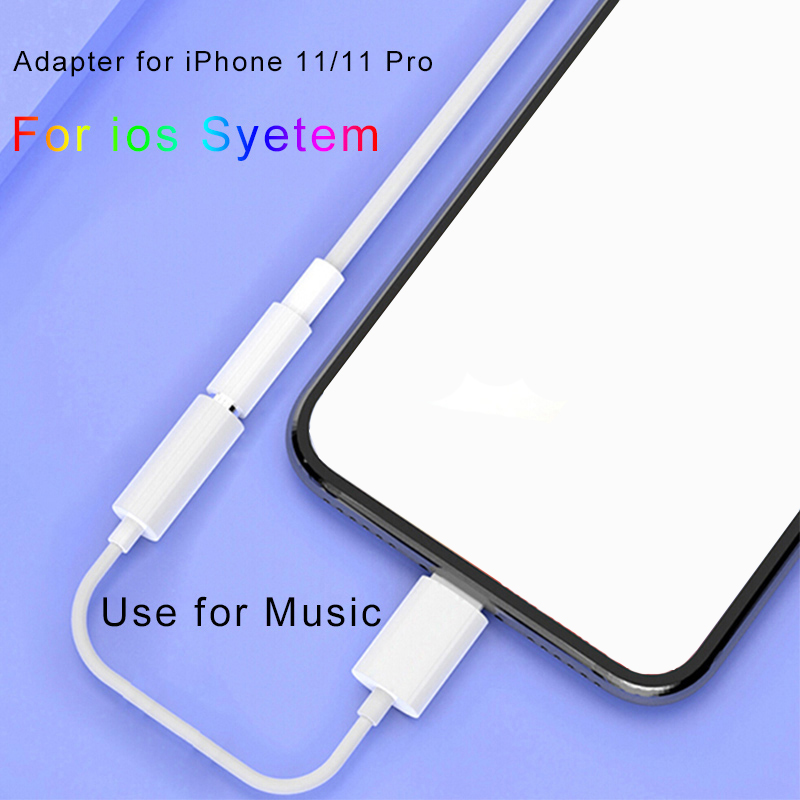 Headphone Adaptador for <font><b>iPhone</b></font> ios System 13 12 11 System to 3.5mm Earphone <font><b>Jack</b></font> Cable AUX Audio <font><b>Adapter</b></font> for <font><b>iPhone</b></font> 7 11 Pro image
