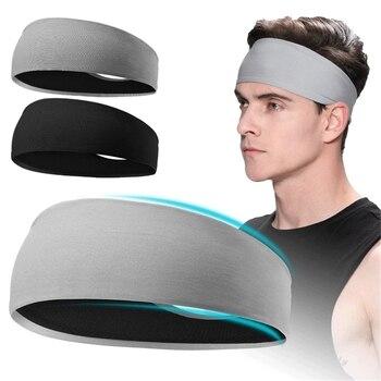 Opaska dla mężczyzn kobiety elastyczna opaski sportowe opaska na głowę opaski do jogi nakrycia głowy nakrycia głowy sportowe akcesoria do włosów bezpieczeństwa pasek