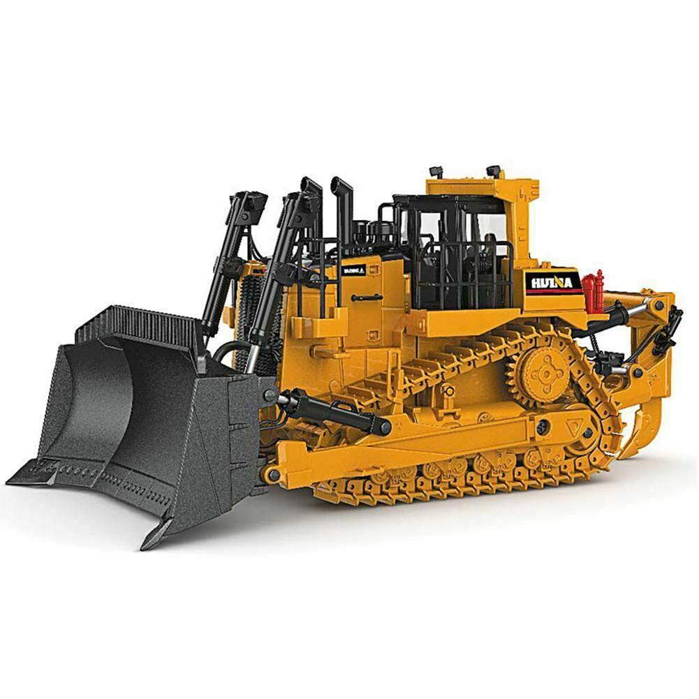 1/50 High Simulation Diecast Metal Crawler Bulldozer Engineering Car Model Educational Kids Toy For Boys Kids Birthday Gift