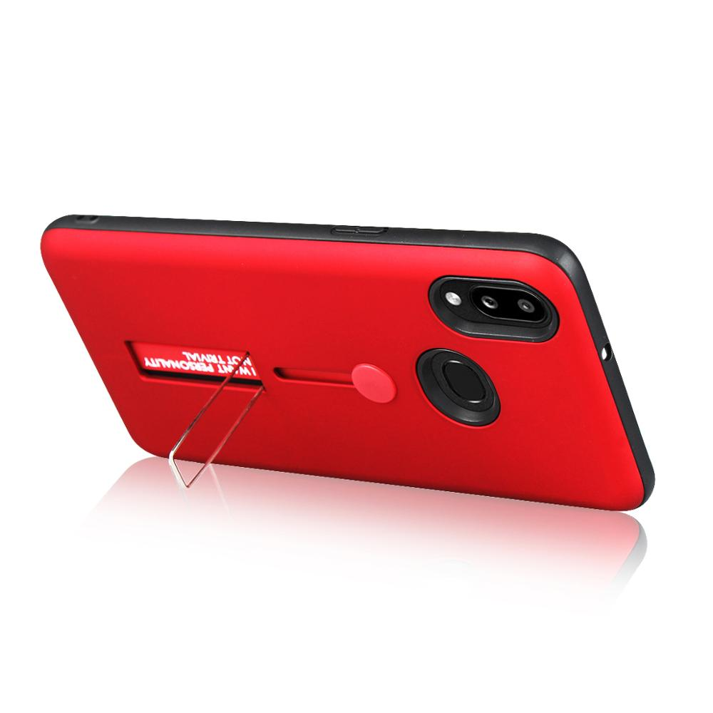 Ring Kickstand Soft Shockproof Case For Samsung Galaxy A10 2019 SM-A105F/DS <font><b>A105FN</b></font> A105 Silicone Bumper Hard Cover Ring Case image