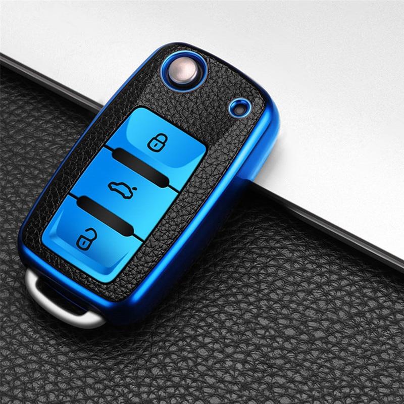 Чехол для автомобильного ключа для volkswagen vw magotan polo golf 4 3 6 5 6 mk6 passat b5 b6 b8 b7 touran tiguan bora jetta lavida skoda octavia