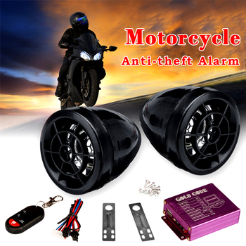 Alarma de seguridad para motocicleta, sistema antirrobo de Audio por voz, llave...