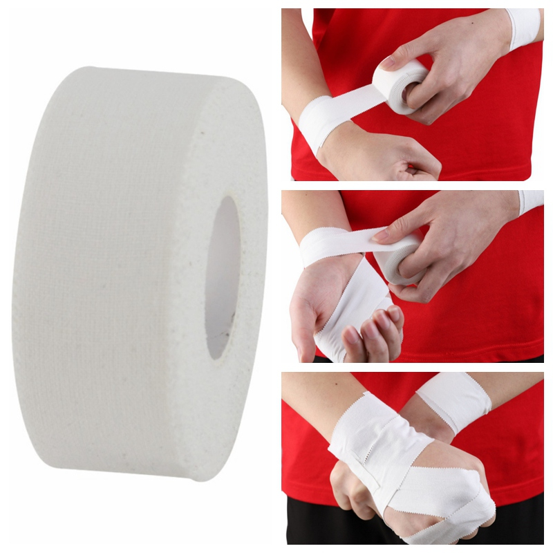 10M Cotton White Medical Premium Adhesive Tape Sport Binding Physio Muscle Elastic Bandage Strain Injury Support