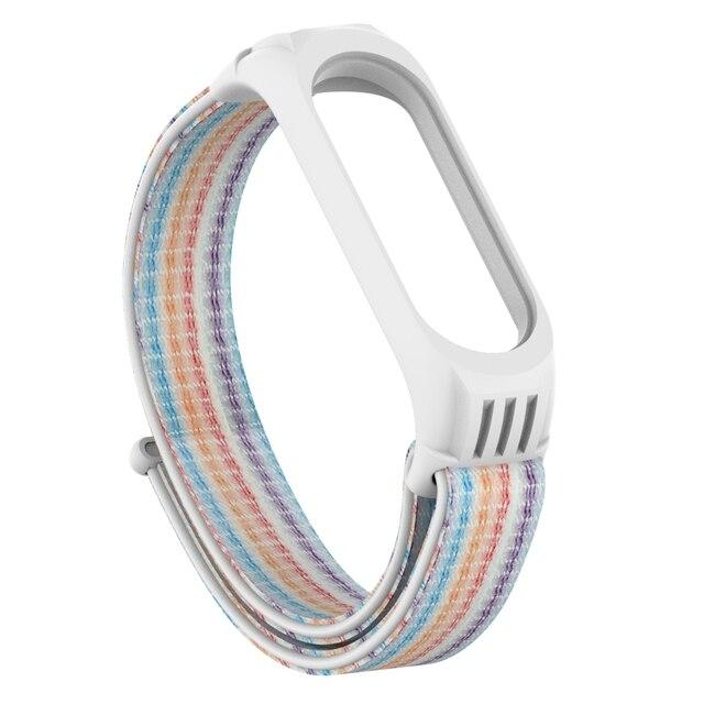 Replaceable Nylon Bracelet For Xiaomi Mi Band 3 4 Strap Nylon silicone Sport Wristband For Mi band 3 Band 4 Smart Watch Strap 3