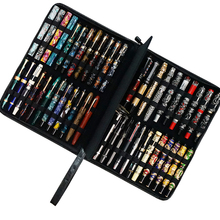 Real Leather Pen Case for 46 Fountain Pens Cowhide Pencil Bag Black Pen Holder for Rollerball Ballpoint Fit In Various Size