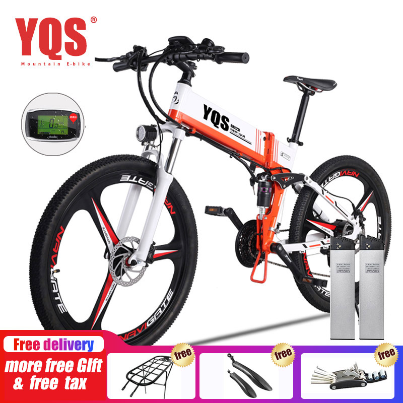 YQS Bicicleta Elétrica 350 W/500 W 110 KM 21 Velocidade ebike bateria elétrica 26