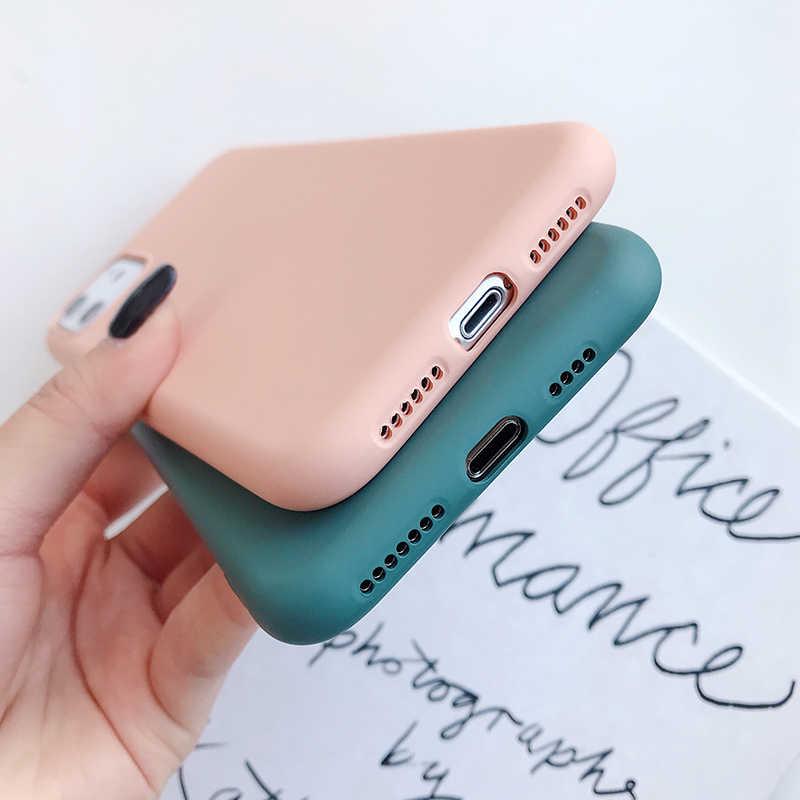 حافظة لهاتف آيفون 11 برو 8 7 6 S Plus X XS Max XR SE حافظة لهاتف آيفون 11 برو من السيليكون الناعم غير اللامع
