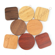 Wood Wireless Charger Pad with 5W Charging for iPhone 8 X Samsung XiaoMi 5V1A Charge Mobile Phone USB QI Device
