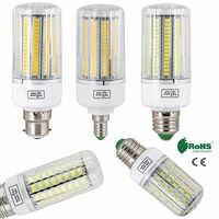 Bombillas LED E27 Luz de maíz B22 E14 5730 SMD 24 LEDs-165 LEDs 110V 220V candelabro vela LED luz para decoración del hogar ampolla YZ