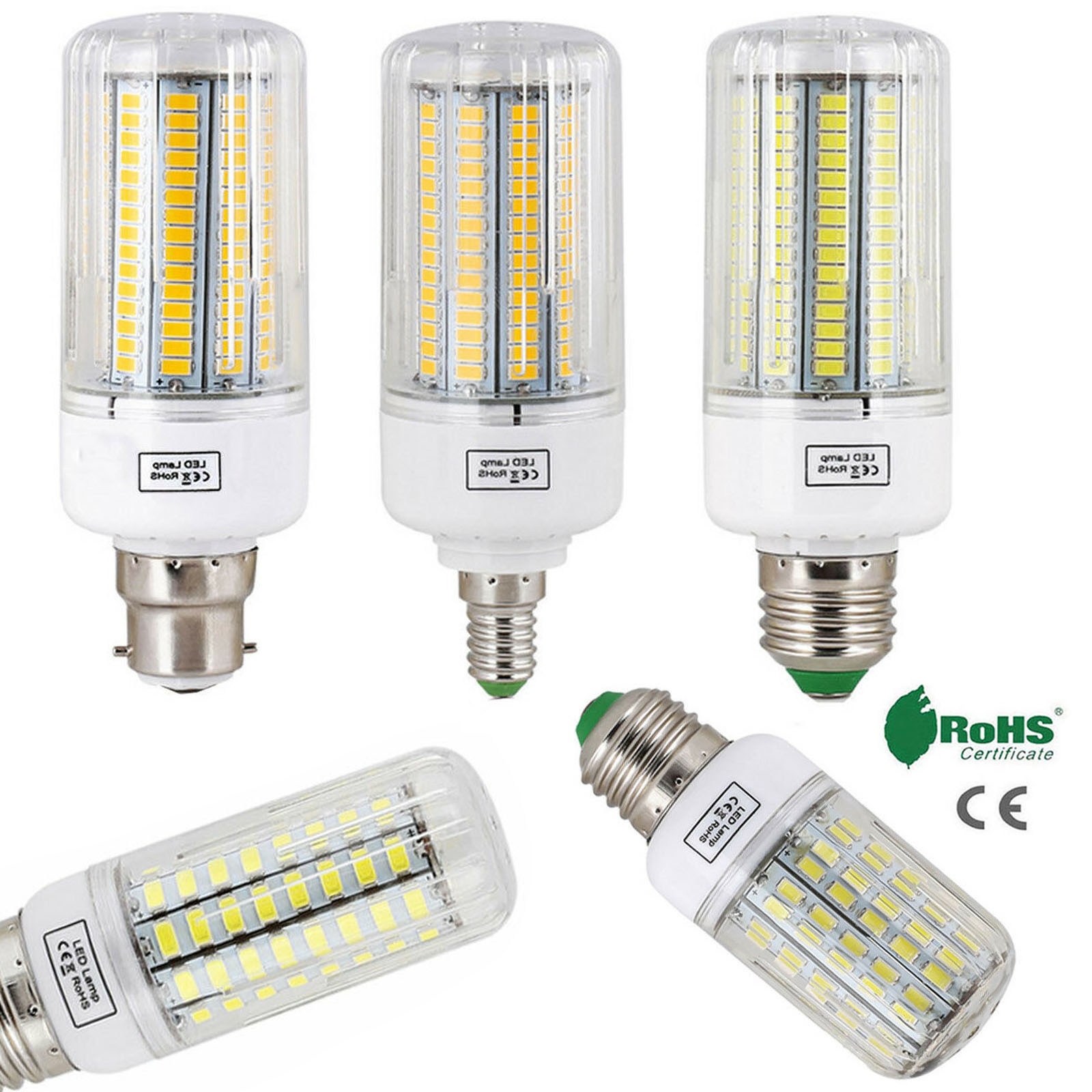 LED Bulbs E27 Corn Light B22 E14 5730 SMD 24LEDs - 165LEDs 110V 220V Chandelier Candle LED Light For Home Decoration Ampoule YZ