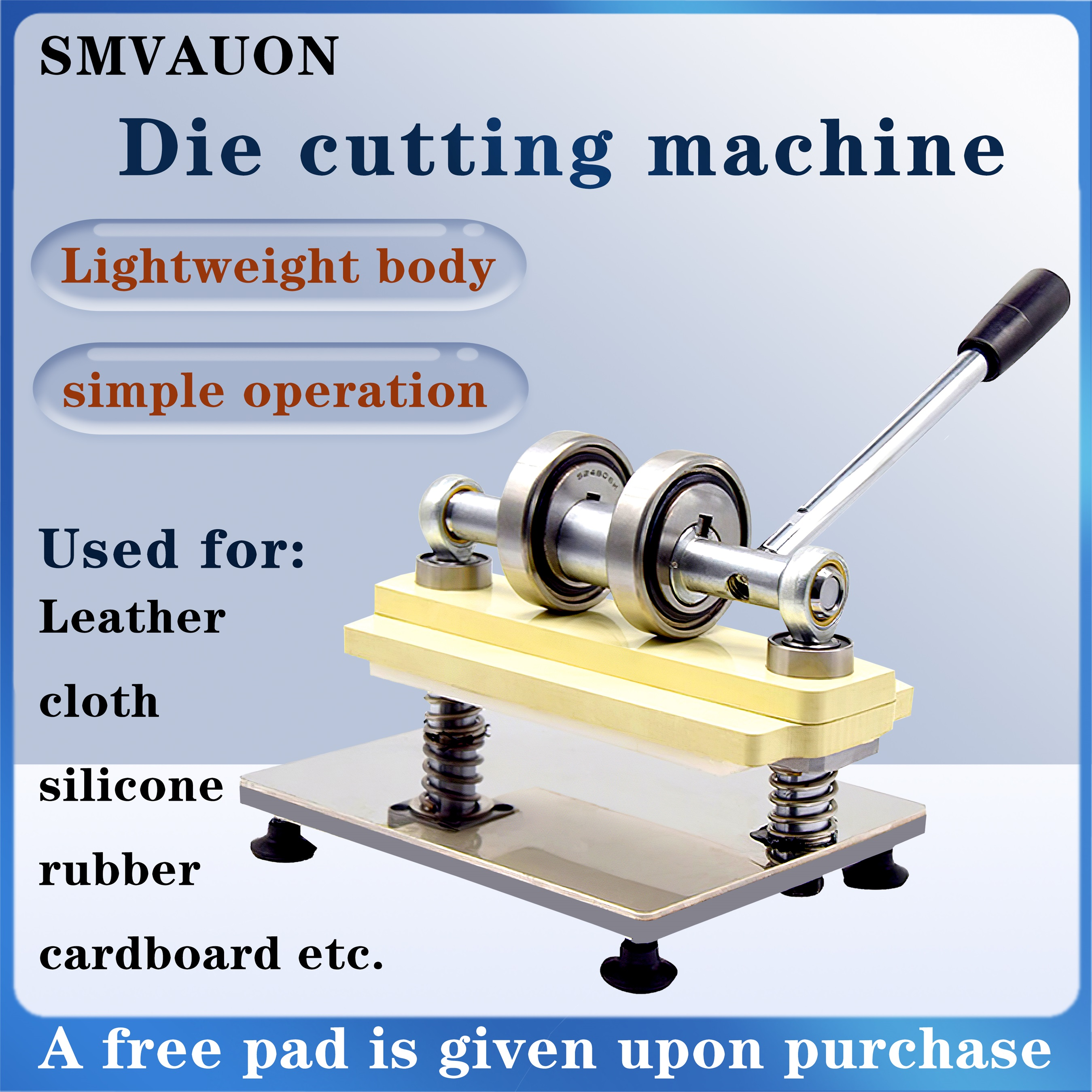 Double Wheel Hand Leather Cutting Machine Photo Paper Sheet Cutter DIY Leather Small Manual Pressure Die Cutting Machine