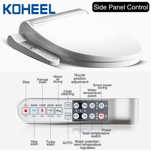 Image 5 - KOHEEL New Intelligent Toilet Seat Gold Silver Side Panel Control Electric Bidet Smart Bidet Heating Dry Massage for Wc