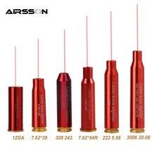 Mira vermelha tática do cartucho de 12ga de cal.308. 223 30-06 cal7.62x39 7.62x54 para caçar o laser vermelho boresighter