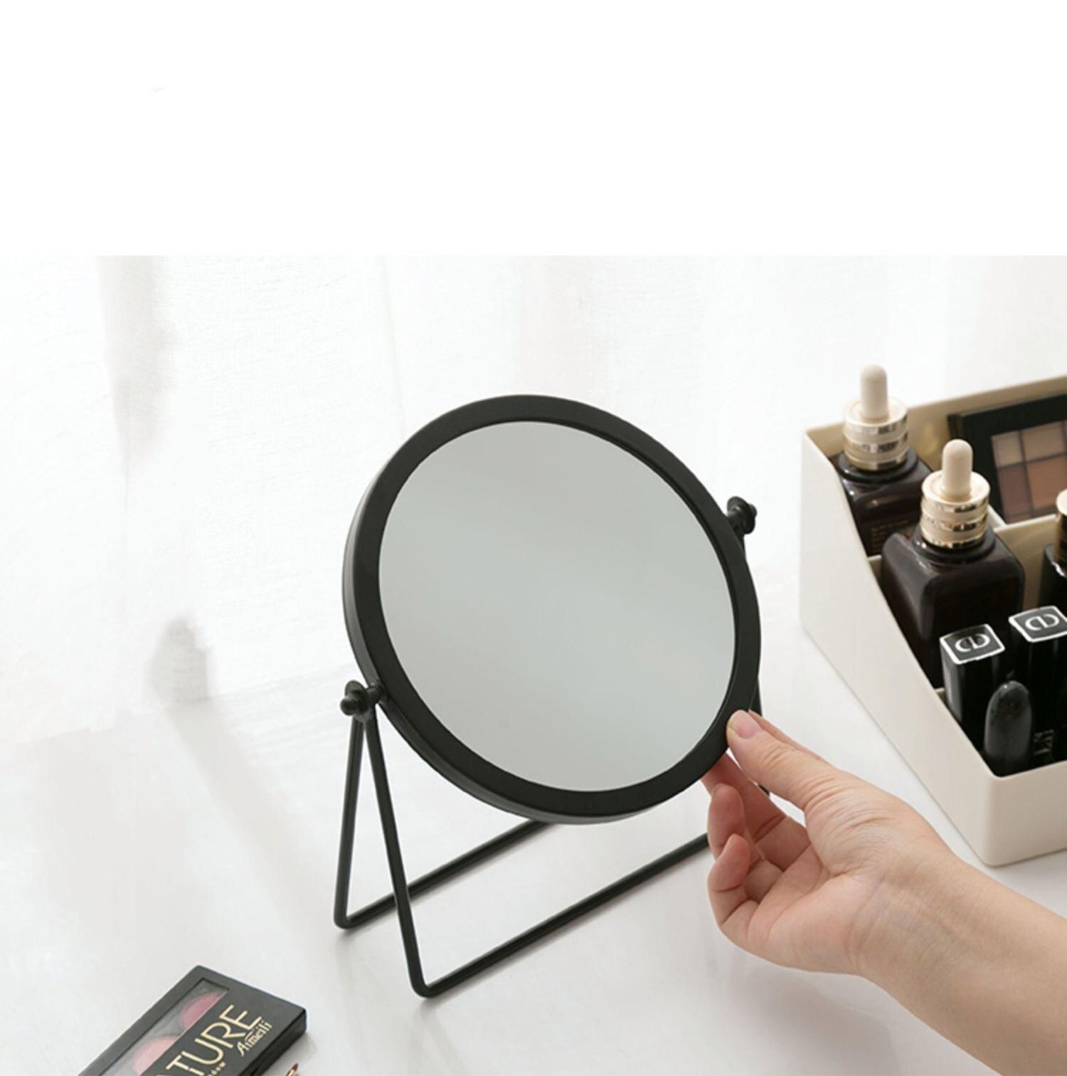 Desktop Menina Penteadeira Espelho Make-up Stand Up