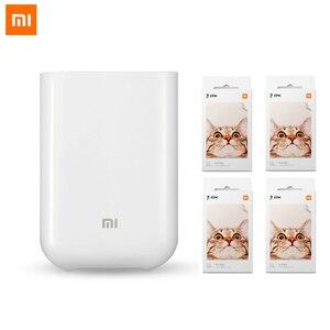 Image 1 - XiaoMi Mijia AR Printer 300dpi Portable Mini Travel Party Photo Picture Printer Pocket Camera DIY Share 500mAh Picture