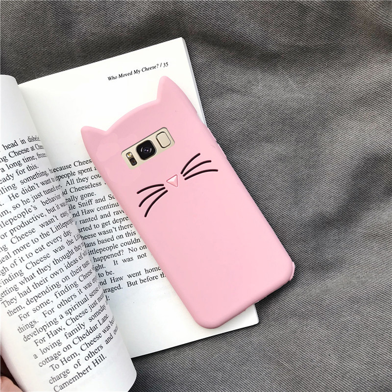 Cute 3D Cartoon Pill Stitch Bow Tie Cat Silicone Soft Phone Case For Samsung GALAXY S4 S5 S6 S7 Edge S8 S9 S10 Plus Note 8 9