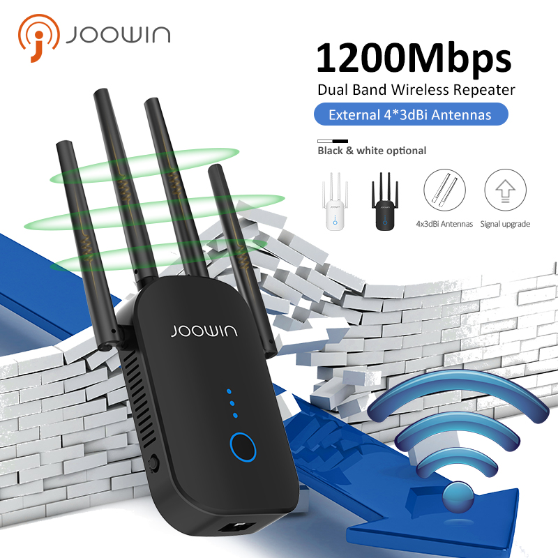 1200Mbps Dual Band 5Ghz Wireless Wifi Router Powerful Wifi Repeater Wifi Extender 4*3dbi Antenna Long Range Wlan Wi-fi Amplifier