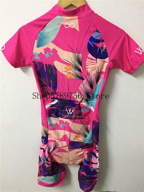 Triathlon terno roupas ciclismo conjuntos de corpo rosa roupa feminina macacão feminino triatlon kits 5