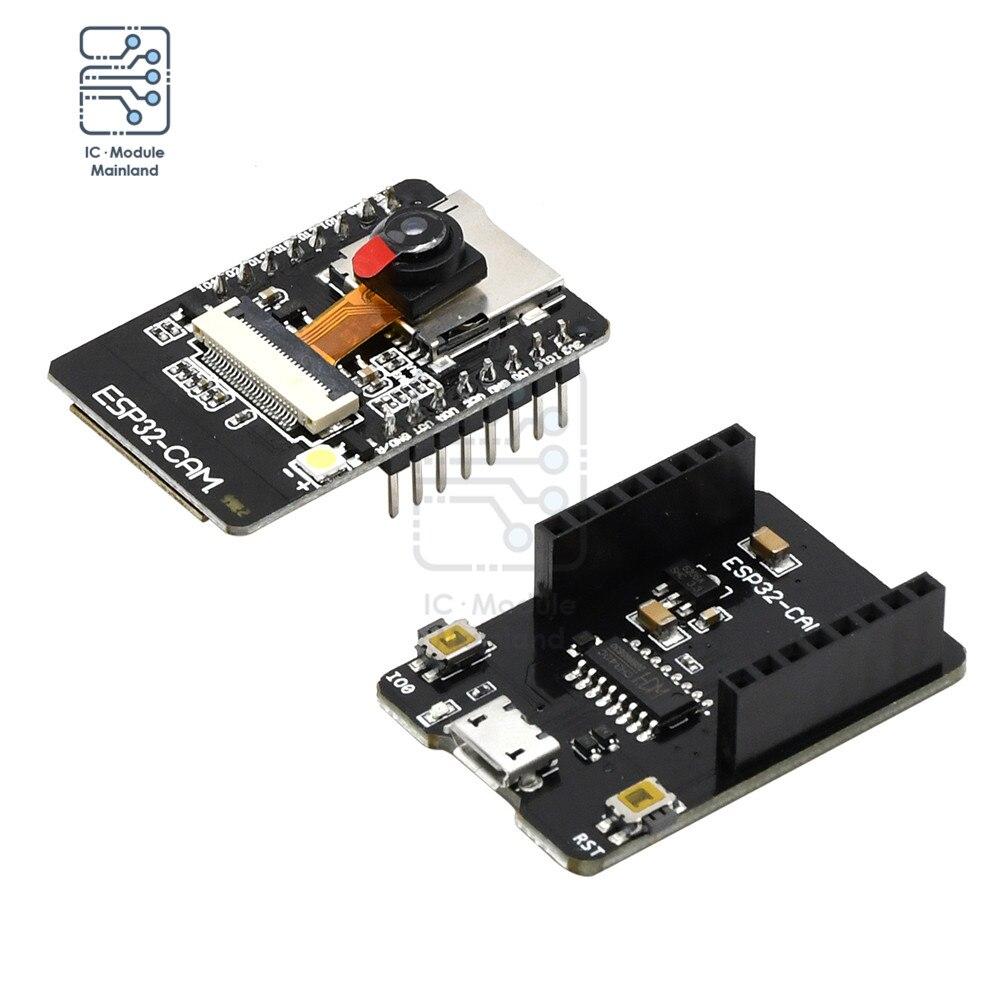 ESP32-CAM-MB плата разработки Wi-Fi Bluetooth с камерой OV2640 MICRO USB для последовательного порта CH340G 4,75 в-5,25 в для умного дома