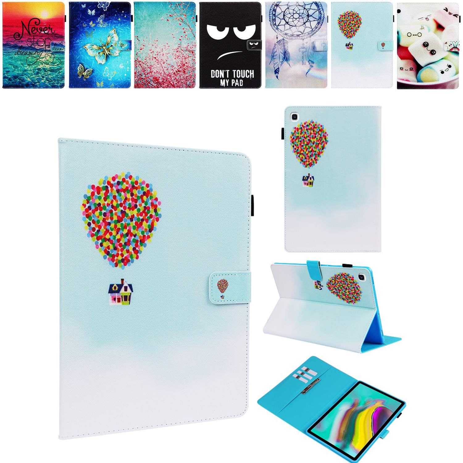 Tablet Case For Samsung Galaxy Tab S6 10.5 SM-T860 SM-T865 2019 Inch PU Wallet Protective Skin For Galaxy Tab S6