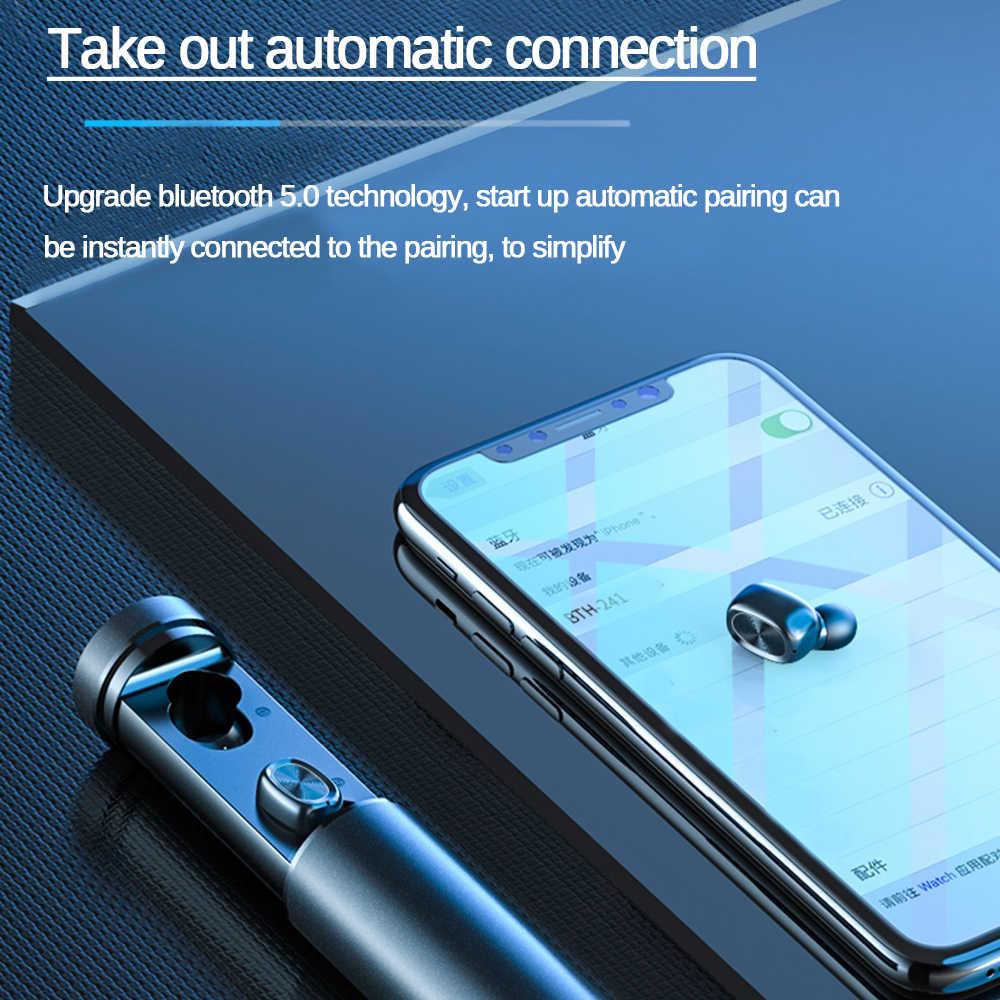 B9 TWS ブルートゥース 5.0 ファッションワイヤレスイヤホン 8D ハイファイスポーツマイクイヤフォンオートゲーム音楽 Xiaomi サムスン華為