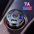 Автомобильное зарядное устройство USB для Iphone 11Pro, быстрая зарядка GPS, автомобильное зарядное устройство с двумя USB-портами для планшета Xiaomi ...