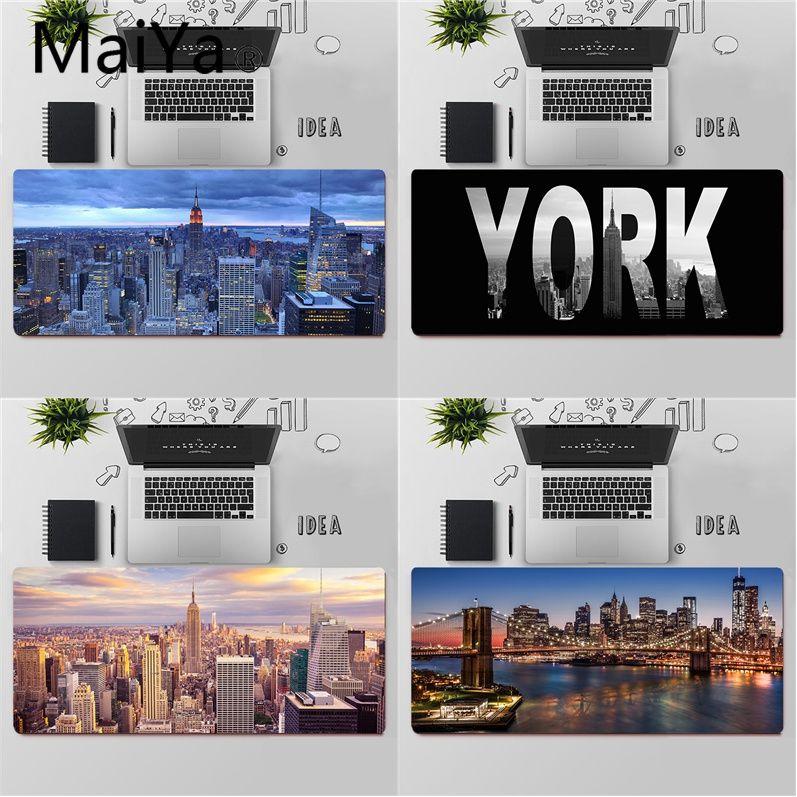 Maiya Высококачественная резиновая компьютерная игровая коврик для мыши New York City, бесплатная доставка, большой коврик для мыши, коврик для кла...