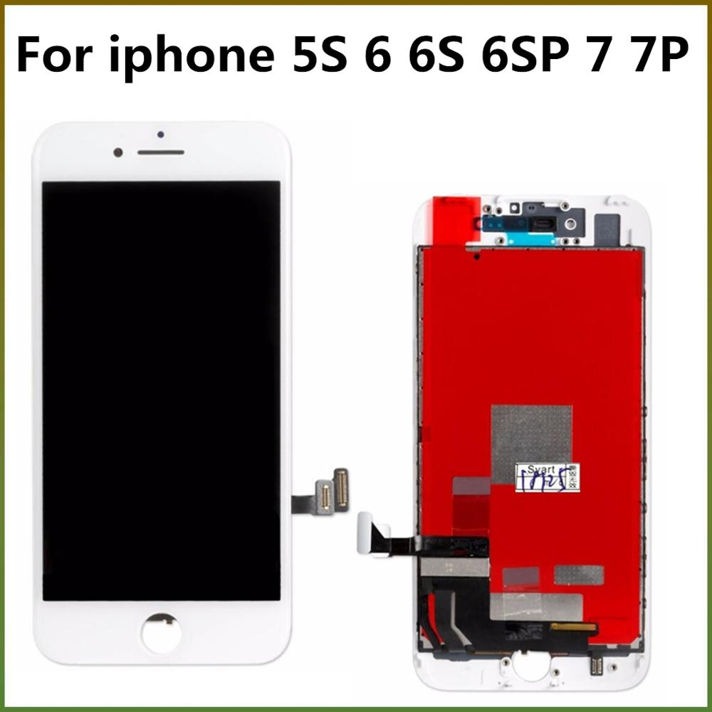 100% Tested AAA LCD Display For Iphone6S Touch Screen Digitizer LCD Screen For Iphone7 Pantalla For Iphone5 6 6S 6SP 7 7P LCDs