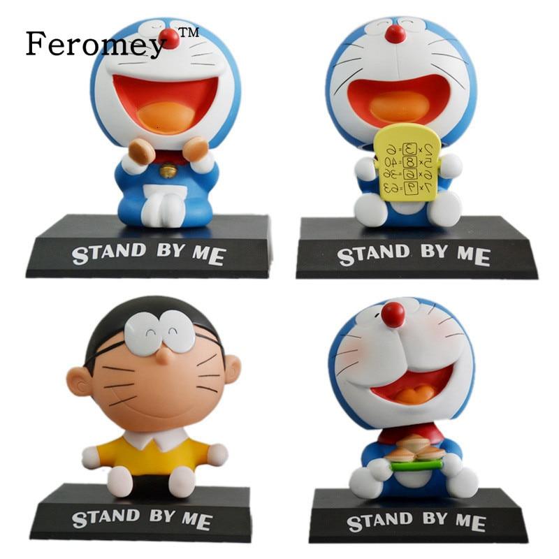 Cute Doraemon Shaking Head Dolls Doraemon Bobble Head Action Figure Doll Car Decoration Children Kids Toys Birthday Gift 10cm