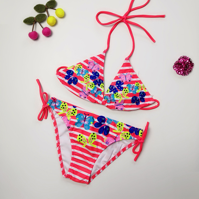 Xin Ai Hot Sales-New Style Foreign Trade Cute CHILDREN'S Bikini Navy Stripes Hipster CHILDREN'S Swimwear Women's