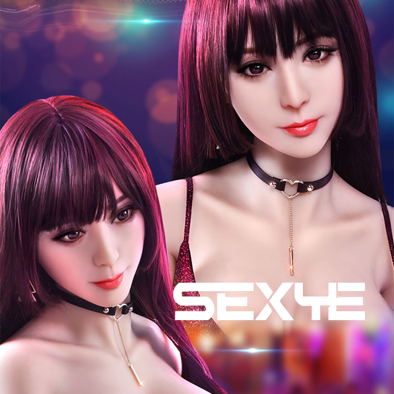SEXYE <font><b>Sex</b></font> <font><b>Doll</b></font> Head Silicone Sexy Toys Oral Love <font><b>Doll</b></font> Head For Man Adult Lifelike Mannaequin <font><b>Cosplay</b></font> Head Of <font><b>Anime</b></font> <font><b>Sex</b></font> <font><b>Doll</b></font> image
