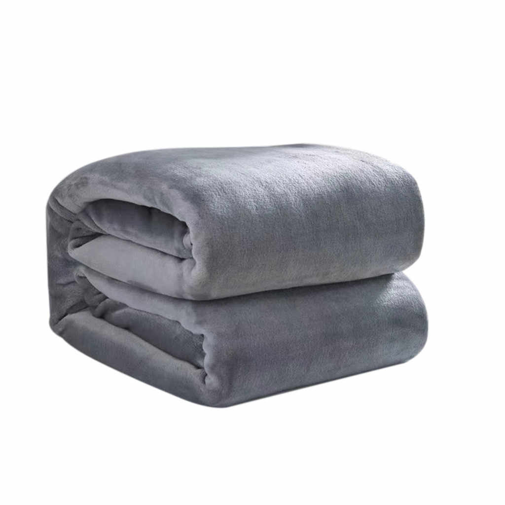 Home fashion Woollen Blanket Solid Soft Living Room Bedroom Air Conditioning Bed Blankets for Sofa Bedding 70x100cm
