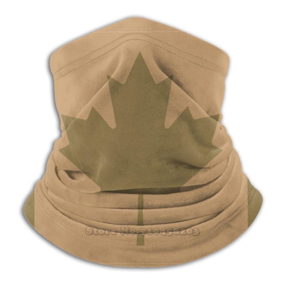 Манишка-Бандана из микрофибры с принтом флага Канады, пустыни/койота, шарф, маска для лица, канадский флаг, Канадская армия, военная пустыня