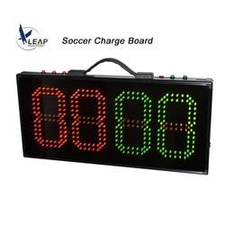 Tablero de visualización de tiempo de lesiones del juego de fútbol LED tablero sustitución Fútbol 1 equipo de batería lateral de árbitro deportivo