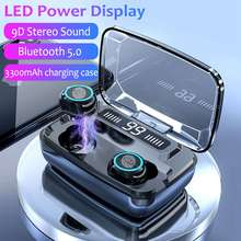 TWS Bluetooth V5 0 bezprzewodowe słuchawki Bluetooth słuchawki bezprzewodowe wyświetlacz LED 3300mAh moc ładowanie Box zestaw słuchawkowy z mikrofonem słuchawki bezprzewodowe słuchawki bluetooth tanie tanio KISSCASE Dynamiczny wireless 120dB Słuchawki HiFi Wspólna Słuchawkowe Dla Telefonu komórkowego Sport Do Gier Wideo NONE