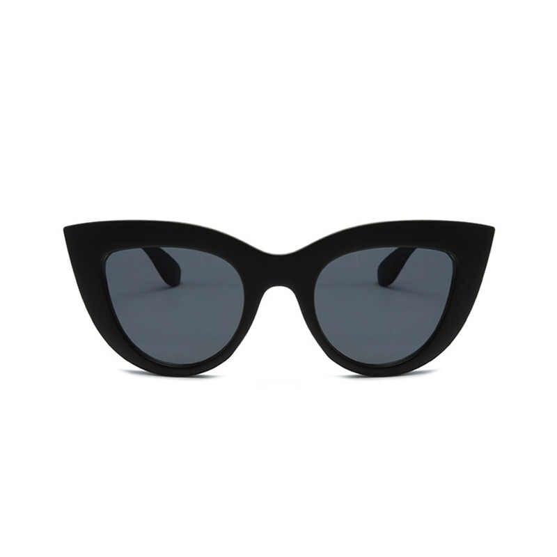 Preto Clássico Olho de Gato óculos de Sol Das Mulheres Designer de Marca Tendência Óculos Estilo Óculos Adultos